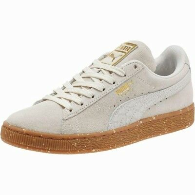 6f2532088f73bf New Puma Womens Classic FT Suede Safari Beige   White Lace Up Sneaker Shoes  ...