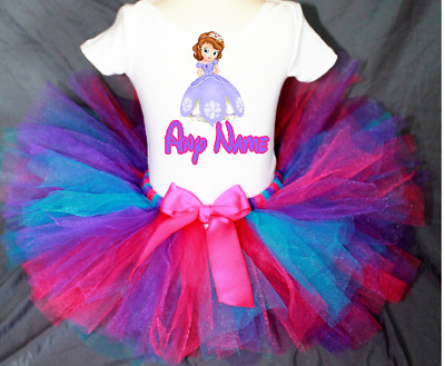 b3beedb85d36 SOFIA THE FIRST Birthday Tutu Set Outift Your Child's Name and Age ...
