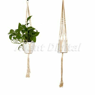 Pot Holder Plant Hanger Macrame Hanging Flower Planter Basket Braided Rope Jute