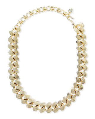 Lee Angel NEIMAN MARCUS Brass Gold Curb Chain Necklace NWT$259