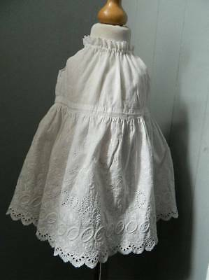 Antique small baby's or dolls petticoat - Swiss embroidery lace full skirt