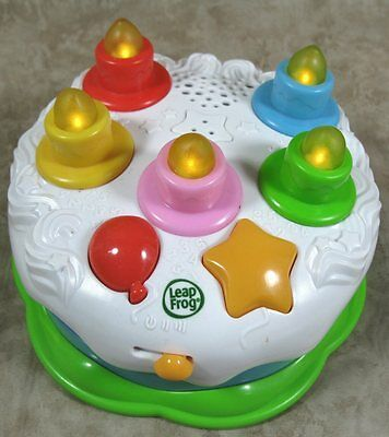 Leap Frog Light Up Counting Candles Birthday Cake Musical Singing Learning Toy