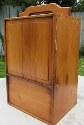 Rare Antique Chinese 19thC Elm Carry Chest Box with Sliding Mechanisms Both Side