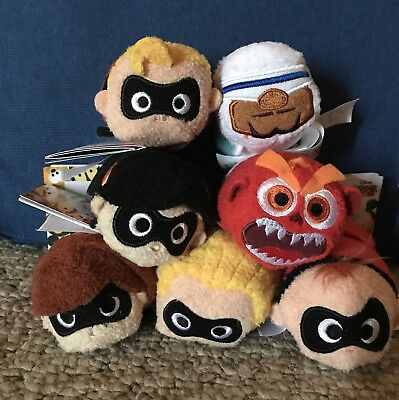 The Incredibles 2 Tsum Tsum Set Of 7 Plush Disney Parks Store USA Authentic NWT