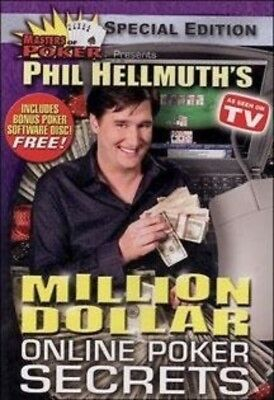 Phil Hellmuth's Million Dollar Online Poker Secrets (DVD, 2004) NEW