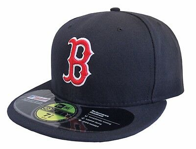 New Era 59Fifty Boston RED SOX MLB On-Field Fitted Cap Hat Navy, Pick Size NWT