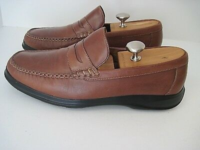 f7e07313e59 Cole Haan Nke Air Brown Leather Penny Loafers Slip Ons Men s Size 11 1 2