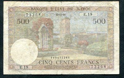 500 Francs From Morocco 1956