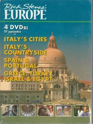 Rick Steves' Europe 4-Disc Set DVD VIDEO MOVIE Italy's Cities Countryside Spain+