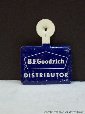 B.F. Goodrich Distributor Tire Advertising Tab Foldover Pinback Pin Badge Vtg