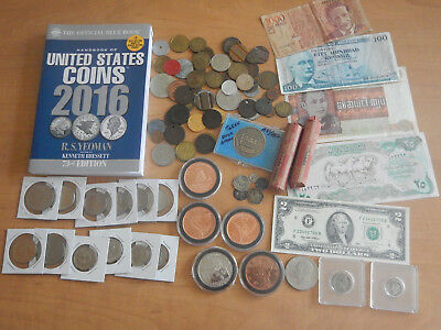 US & Foreign Coin Tokens Currency Banknote Silver 1800s Collection Exonumia Lot