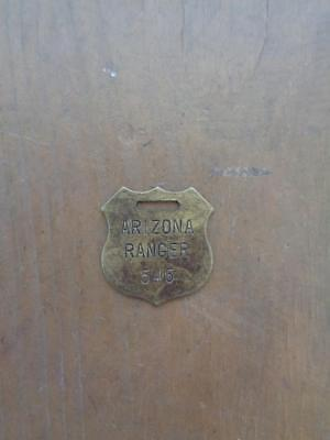 Brass Arizona Ranger Key Tag Watch Fob Numbered 546