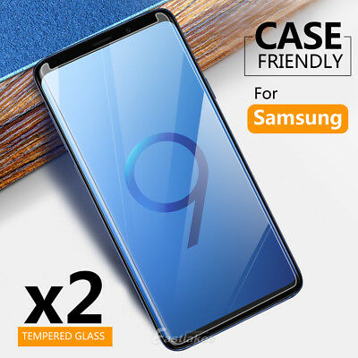 2X Samsung Galaxy S5 S6 S7 S8 S9 Plus Note 9 8 Tempered Glass Screen Protector