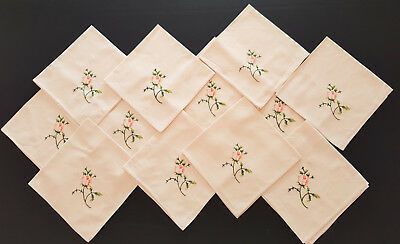 Vintage Napkins Table Decor *set Of 12* French Provincial, Country, Shabby Chic