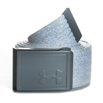 Under Armour Mens Novelty Webbing Belt in Grey - OSFA From Get The Label