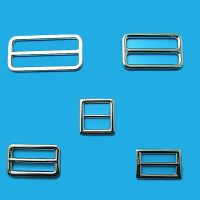 Metal Sliding Bar Strap Adjuster Buckles Slider 20mm 25mm 32mm 38mm 50mm