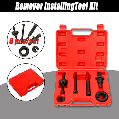 6pcs Power Steering Pump Pulley Puller Remover InstallingTool Kit for GM & Ford