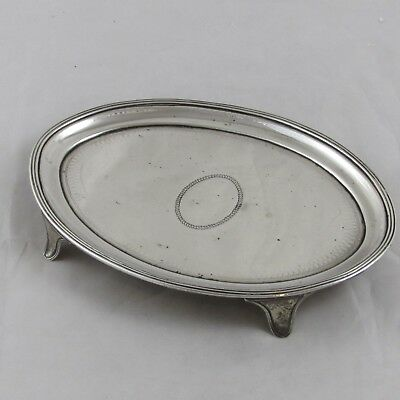 SUPERB ANTIQUE GEORGIAN GEORGE III SILVER TEAPOT STAND CHAWNER & EAMES 1797 121g