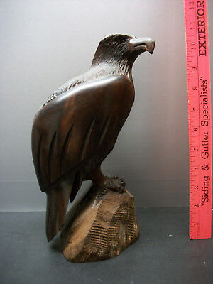 Hand Carved Wooden American Bald Eagle Figure / Statue Mexico