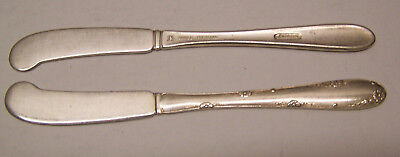 Vintage Sterling Silver Towle Silversmiths  Butter Knives/spreaders Lot of 2