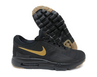 866af8ebc054f [876070-015] NIKE AIR MAX ZERO ESSENTIAL BLACK METALLIC GOLD MEN SNEAKER Sz