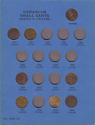 1920-72 Canada 1 Cent Coin Collection Of 41 In Album