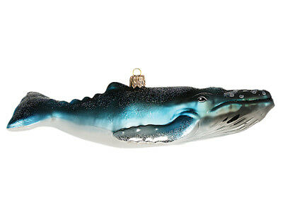 Humpback Whale Polish Mouth Blown Glass Christmas Ornament Tree Decoration