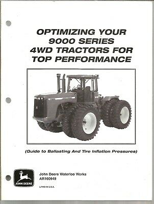 John Deere Optimizing Your 9000 Series Tractor  Brochure