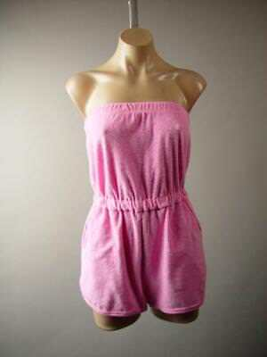 074f502003 Urban Outfitters Terry Cloth Shorts Swim Cover Up Strapless 276 mv Romper S  M