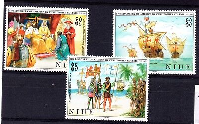Niue (1783)  500th Anniv.of Discovery of America by Columbus set Lightly mounted