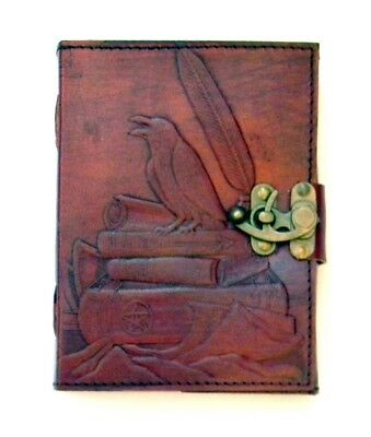 Sabrina's Raven 120 Page Embossed Leather Journal 5 X 7 Inch Diary New Unlined