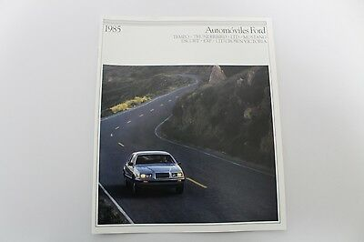 1985 Ford Automobiles Original SPANISH Dealer Brochure-Automoviles