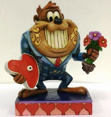 Jim Shore Looney Tunes Dinner Date Night with Taz in Suit Figurine 4055773 New