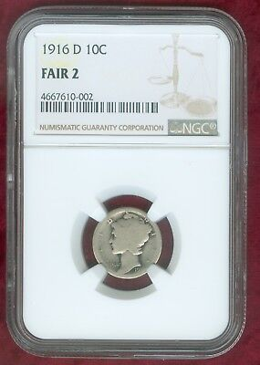 1916-D Mercury Graded Fair 2 by NGC--ITS REAL!!