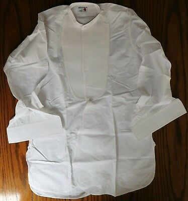 Starched Marcella tunic dress shirt Rocola Pall Mall size 15 vintage collarless