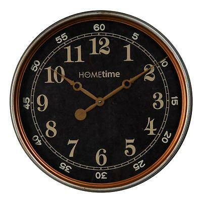 Vintage Style Black Bronze Deep Case Metal Wall Clock 40cm Arabic Dial