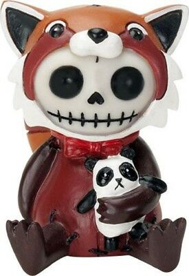 Furrybones Reddington Skeleton Dressed in Red Panda Costume Halloween Figurine
