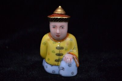 Chinese antique Vintage Old Porcelain qing dynasty soldier rare Snuff Bottle
