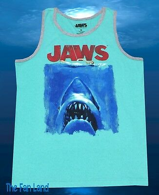 New Jaws Movie Poster Retro Vintage Classic 1975 Mens T-Shirt Tank Top