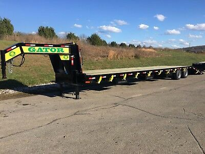 35+10 Gator Gooseneck Hot Shot, Hydraulic dovetail Trailer with Air Ride