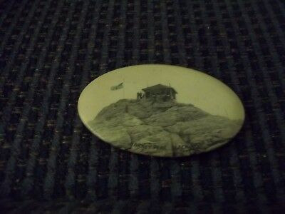 Antique Celluloid PocketMirror Advertising Harney Peak Black Hills South Dakota