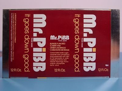 MR. PIBB - Coca-Cola - Madisonville, Ky - UNROLLED 12 oz PROTOTYPE CAN SHEET