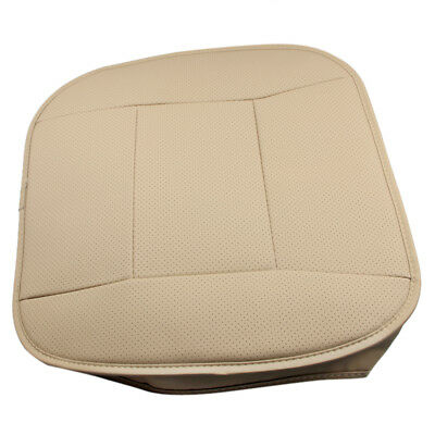 PU Leather Deluxe Car Cover Front Seat Protector Full Cushion Universal Beige