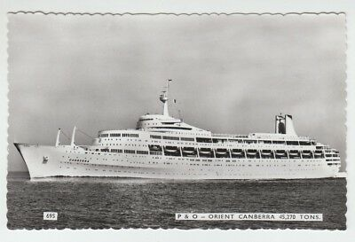 """[11694] OLD RPPC """"CANBERRA"""" P&O / Peninsular & Oriental Steam Navigation Co."""