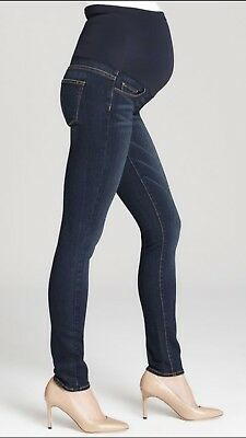 New Paige Denim Verdugo Ultra Skinny Over The Bump Maternity Jeans Size 26