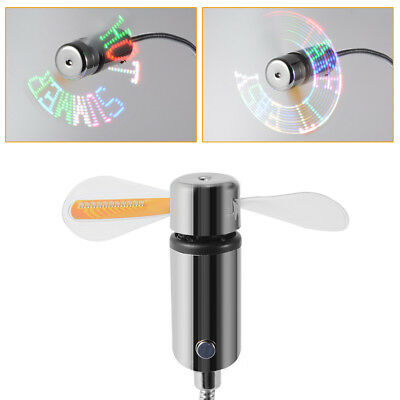 DIY Gadget Mini USB Fan Flexible Programmable LED Cool for Laptop Notebook HS978