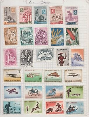 SAN MARINO Collection Early Flight, Hunting, Crops, etc MUH as per scan #