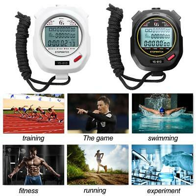 Digital LCD Sport Stopwatch Timer Date Time Alarm Counter Chronograph Countdown