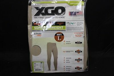 Xgo Phase 3 Super Midweight Bottoms New With Tags In Bag Tan C Pictures Size Lrg