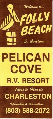Welcome to Folly Beach Pelican Cove RV Resort by Charleston SC Vintage Brochure